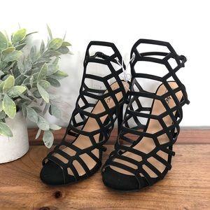 Mossimo Black Caged Heels